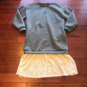 👗Zara top/skirt look midi dress